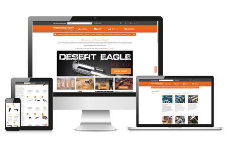 Der neugestaltete Webshop von Waffen Ferkinghoff – jetzt auch auf mobilen Endgeräten nutzbar