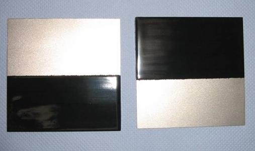 Applizierte Schutzbeschichtung auf Edelstahlproben