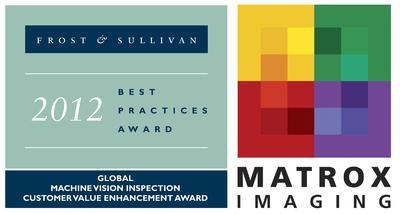 """Matrox Imaging hat den internationalen Frost & Sullivan """"Award for Customer Value Enhancement 2012"""" für die industrielle Bildverarbeitung erhalten"""