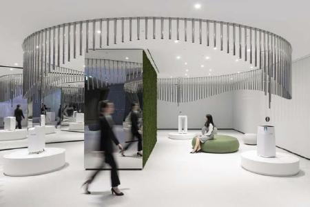 """The Air Zone offers fresh air as a sensorial triad: Visitors feel a breeze that produces """"silver"""" sounds and spreads forest aroma / copyright: D'art Design Seoul Ltd."""