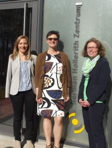 asmina Hostert (SPD Böblingen) , Saskia Esken (MdB)  und die Vize-Präsidentin der Hochschule Reutlingen, Prof. Dr. Gabriela Tullius