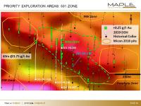 Maple Gold reports new drill results from the Nika Zone, including 42.5 metres of 1.75 g/t Au