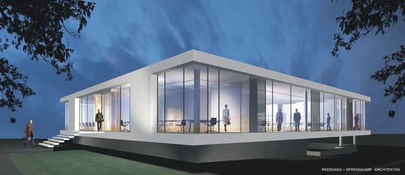 Ein futuristischer Blick auf Lippstadts neues Kreativzentrum – das Bürogebäude der Werbeagentur WDS New Media an der Weissenburger Straße.
