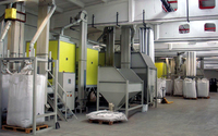 Novel recycling system for mixed plastics from electronic waste