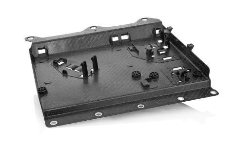 Umspritzte Composites, wie zum Beispiel Organobleche, bieten enormes Potenzial zur Gewichtsreduzierung
