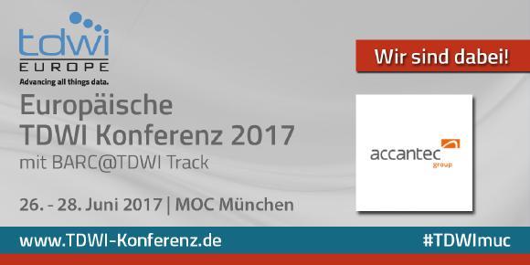 accantec auf der TDWI Konferenz