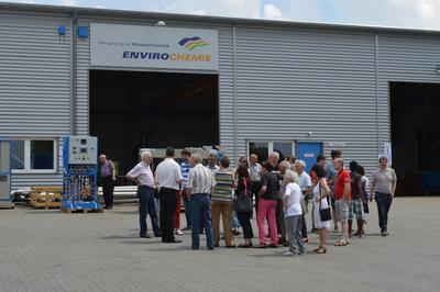 In vielen Führungen informierten sich die Gäste über EnviroChemie und die Anlagen zur Wasser- und Abwasserbehandlung