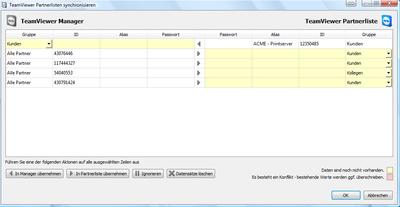 Screenshot TeamViewer 5 / TeamViewer Manager