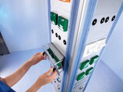 The new TruPort ceiling-mounted supply units enable individual configuration by the hospital staff at any time