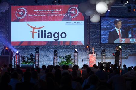 FILIAGO Gewinner des eco Award 2016 Kategorie Next Generations Infrastructure B2C