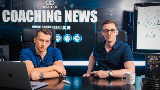 Markus Baulig (l) und Andreas Baulig im eigenen Studio