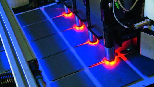 """Digital printing of etch masks on solar cells."""
