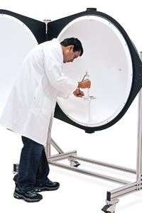 """Labsphere's new CSLMS 4011 40"""" integrating sphere spectrometer for high quality total spectral flux and color characterization will debut at LEDs 2008."""