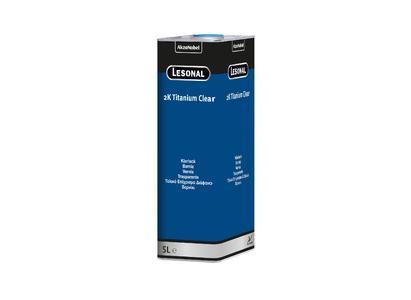 Lesonal 2K Titanium Clear - Bei der Lackmarke Lesonal zeigen farbliche Etiketten, um welche Produktgruppe es sich handelt