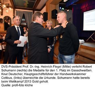 1. Platz für Robert Schumann im Gasschweißen