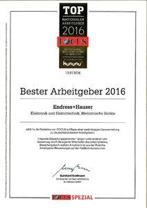 Erneut ausgezeichnet: Endress+Hauser ist einer der besten Arbeitgeber Deutschlands.