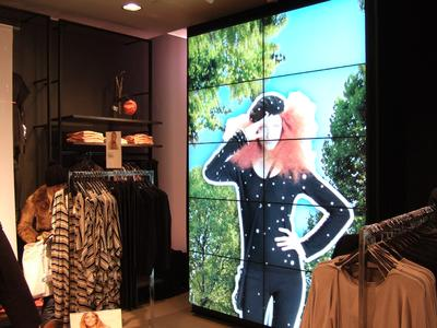 eyevis LCD video wall with super narrow bezel
