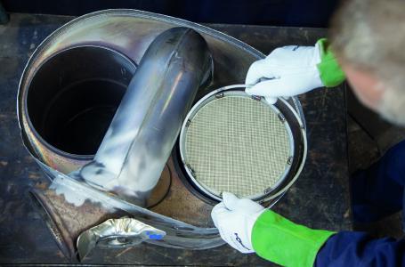 Cleantaxx Russfilterreinigung DPF und Ring einsetzen Januar 2018