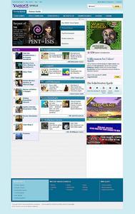 Screenshot der neuen Yahoo! Spiele Homepage