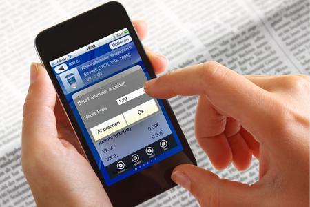 Welche Artikeldaten am Smartphone geändert werden dürfen, wird serverseitig festgelegt