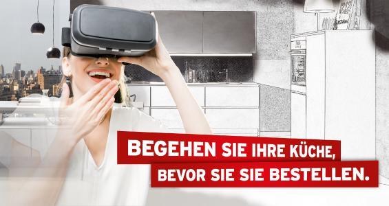 Küche&Co Küchenberatung mit Virtuel Reality - Küche live begehen, bevor sie gebaut wird