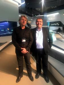 Jens Kolm, Project Manager at Saudi Aramco, and Helmut Rosskopf, Member of the Board of Rosskopf + Partner AG, together in Gallery 4.