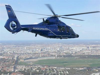 EC155 from German Federal Police © Copyright Bundespolizei