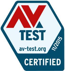 AV-Test Zertifikat 11/2015