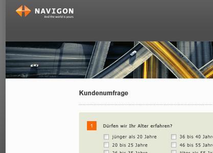 Mit der erfolgreich umgesetzten Online-Kundenbefragung für Navigon hat Schwarzer.de einen anspruchsvollen Auftrag kompetent realisiert.