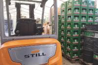 STILL unterstützt die Produktion von Desinfektionsmitteln in der Grönwohlder Hausbrauerei (Foto: STILL GmbH)