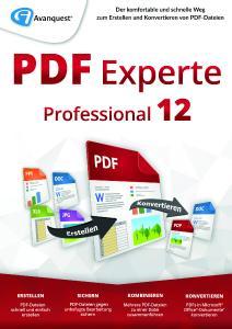 Spezialist für digitale Dokumente: PDF Experte 12 Professional
