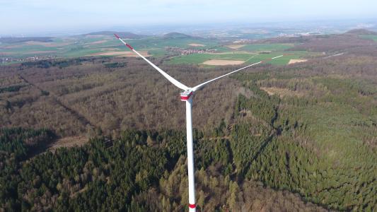 Windenergieanlage 1 des Windparks Felsberg / Markwald