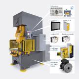 Baumüller zeigt anhand einer Servopresse das komplette Portfolio mit Komponenten, Antriebselektronik, Steuerungstechnik und Software / Bild: Baumüller