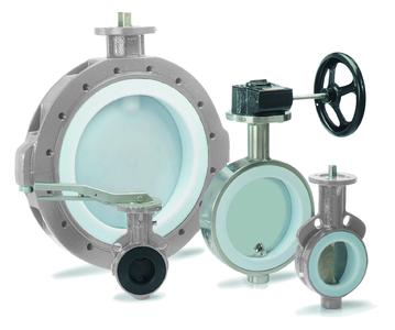 New butterfly valve for corrosive media