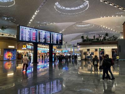 Displays für Informationsanzeigen am neuen Flughafen in Istandbul