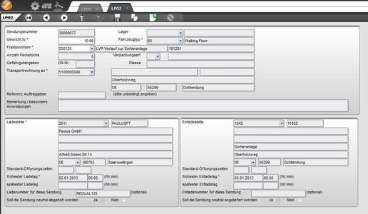 Erfassung und Suche von Sendungen über den Web-Client LP-Online des Transportmanagementsystems LP/2 von Städtler-Logistik, Foto: Städtler-Logistik
