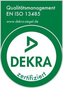 DEKRA certification EN ISO 13485