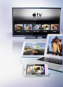 Apples Streaming-Technik überträgt Fotos, Videos, Musik und mehr an das Apple TV, den Fernseher oder die Stereoanlage