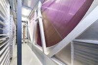 Das neue Hochsicherheitsrechenzentrum wird mit innovativen KyotoCooling-Wärmetauschern zur indirekt freien Kühlung ausgestattet sein. Im Bild zu sehen ist ein Kyoto-Rad aus dem Rechenzentrum München Ost von noris network / Bildquelle: noris network