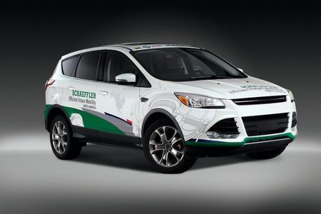 Schaeffler`s Konzeptfahrzeug Efficient Future Mobility North America basiert auf einem Mid-Size-SUV und zeigt eine Reihe von für den nordamerikanischen Markt maßgeschneiderten Lösungen zur Optimierung des verbrennungsmotorischen Antriebsstrangs