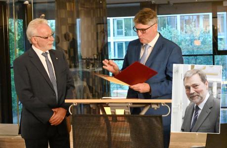 Udo Nicolay und Ludwig Leissing erhalten Goldene Ehrennadel des Bundesverbandes