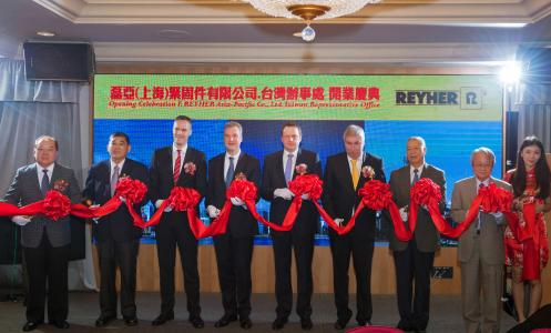 The new office was officially opened in the Taiwanese port city of Kaohsiung, with a traditional Asian ribbon cutting