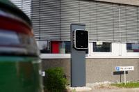 Die neue Ladestation für E-Autos am Distec Firmengebäude