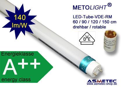 METOLIGHT LED Röhre VDE, matte Hüll, drehbar