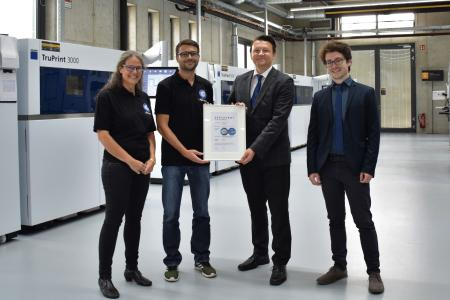 C 0: Metal 3D printing at toolcraft is now TÜV-tested.