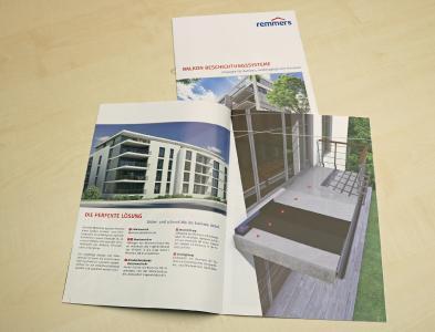 """Alle Informationen zum neuen Quick-Protect-System von Remmers bietet die dazugehörige neue Broschüre """"Balkon Beschichtungssysteme"""", Bildquelle: Remmers, Löningen"""