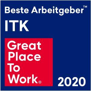 """Logo Great Place to Work """"Beste Arbeitgeber in der ITK"""""""