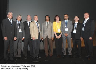 Bei der Verleihung der IIW-Awards 2012