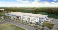 Das Bild für das Baustellenschild visualisiert den Neubau nach Inbetriebnahme. (Bild: Goldbeck Nord)