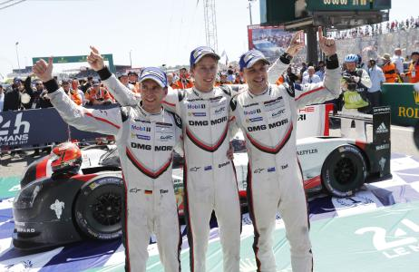 On clinching victory at Le Mans, Earl Bamber, Timo Bernhard and Brendon Hartley take the lead of the standings for the first time in the 2017 WEC season